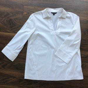 Brooks Brothers crisp white blouse w/ 3/4 sleeves